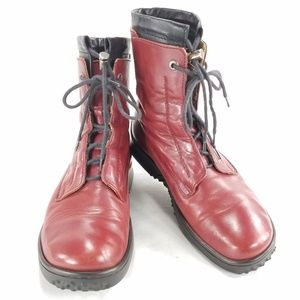 Wolky Lace Up Leather Boots Calf Bootie Shoes Sz 7